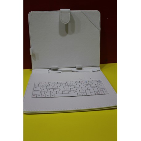 "Funda Tablet Universal 9,7"" Polipiel Blanca"