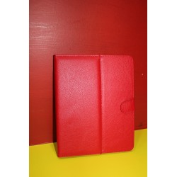 "Funda tablet universal 9,7"" polipiel roja"